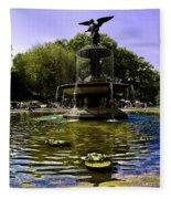 Bethesda Fountain - Central Park  Fleece Blanket