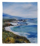 Big Sur Coastline Fleece Blanket