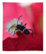 Black Bug Fleece Blanket