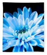 Blue Chrysanthemum Fleece Blanket