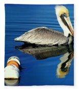 Blues Pelican Fleece Blanket
