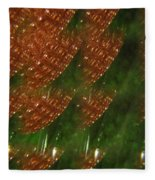 Brilliant Green Abstract 2 Fleece Blanket