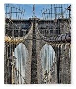 Brooklyn Bridge 3 Fleece Blanket