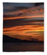Burning Sky Fleece Blanket