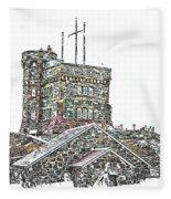 Cabot Tower Fleece Blanket