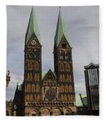 Cathedral Bremen - Germany Fleece Blanket