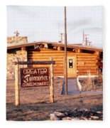 Chamber Of Commerce Log Cabin Fairbanks Alaska 1969 Fleece Blanket