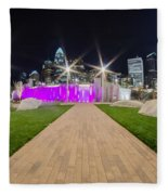 Charlotte Nc Usa - Charlotte Skyline Fleece Blanket