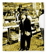 China Town Marketplace Fleece Blanket