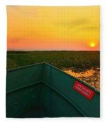 Chobe River Sunset Fleece Blanket