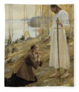 Christ And Mary Magdalene A Finnish Legend Fleece Blanket