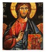 Christ The Pantocrator Icon II Fleece Blanket