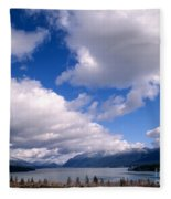Clouds Over Lake Quinault Fleece Blanket