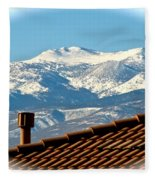 Cold Day New Snow Up There Fleece Blanket