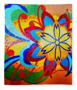 Colorful Tile Abstract Fleece Blanket