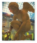 Cupid Playing With A Butterfly - Louvre Museum Paris Fleece Blanket