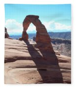Delicate Arch And Shadow Fleece Blanket