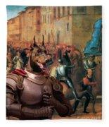 Doberman Pinscher Art -entree De Charles Viii Dans Florence Fleece Blanket