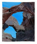 Double Arch - Arches National Park Fleece Blanket