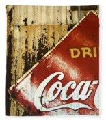 Drink Coca Cola  Memorbelia Fleece Blanket