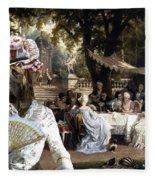 English Mastiff  - Mastiff Art Canvas Print - The Garden Party Fleece Blanket