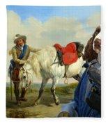 English Springer Spaniel Art Canvas Print Fleece Blanket