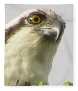 Eye Of The Osprey Fleece Blanket
