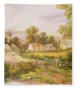 Farmyard Scene Fleece Blanket