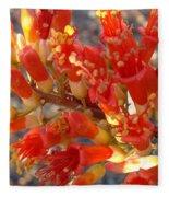 Fiery Orange Flower Fleece Blanket