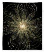 Filigree Flower Fleece Blanket
