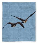 Fleeing Geese Fleece Blanket