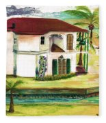 Fort Lauderdale Waterway Fleece Blanket