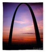 Gateway Arch Sunrise Fleece Blanket