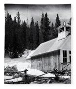 Ghost Town Church Fleece Blanket