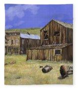 Ghost Town Of Bodie-california Fleece Blanket