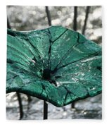 Glass Lily Pad  Fleece Blanket