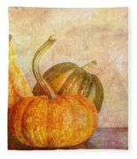 Gourd And Pumpkins II Fleece Blanket