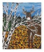 Hunter's Deer Camp Fleece Blanket