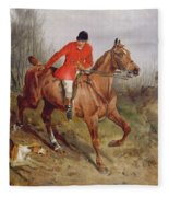 Hunting Scene Fleece Blanket