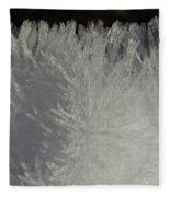 Ice Crystal Formations Fleece Blanket
