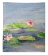 Impressionistic Lilies Monet Fleece Blanket