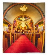 Interior Of  Holy Trinity Gre Fleece Blanket