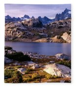 Island Lake And Wind River Range Fleece Blanket