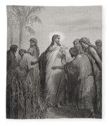 Jesus And His Disciples In The Corn Field Fleece Blanket