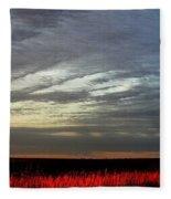 Kansas Prairie Grass Sunrise Fleece Blanket