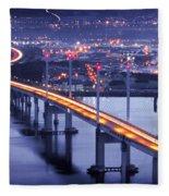 Kessock Bridge Inverness Fleece Blanket
