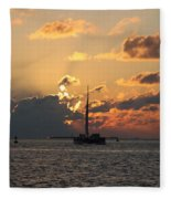 Marelous Key West Sunset Fleece Blanket