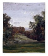 Landscape Near The Monastery Piedra. Aragon Fleece Blanket
