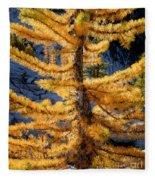 Larch Tree Closeup Fleece Blanket