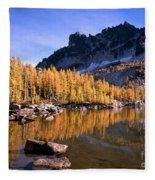 Larches Line Leprechaun Lake Fleece Blanket